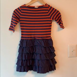 Crewcuts Orange Blue Striped Cotton Dress 6